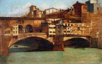 Il Ponte Vecchio a Firenze - Giovanni Fattori